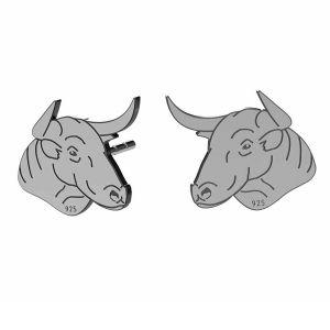 Taureau boucles d'oreilles, argent 925, LK-1401 KLS - 0,50