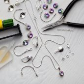 DIY bracelet, argent 925, Swarovski, DIY with SILVEXCRAFT  NO.02001