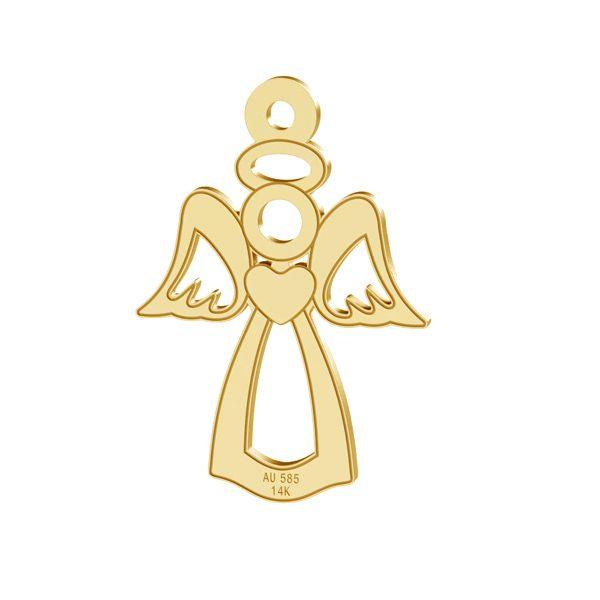 Ange pendentif, or 14K, LKZ-00332 - 0,30