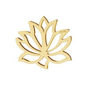 Lotus fleur pendentif or 14K or LKZ-00771 - 0,30
