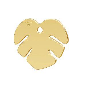 Lotus fleur pendentif or 14K or LKZ-00809 - 0,30