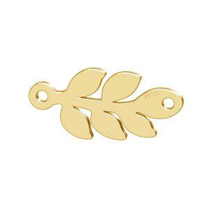 Monstera feuille pendentif or 14K or LKZ-00809 - 0,30