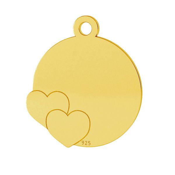 Cœurs pendentif, argent, LK-1468 - 0,50