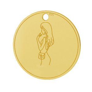 Vierge pendentif zodiaque, argent 925, LK-1452 - 0,50