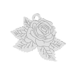 Rose pendentif, argent, LK-1476 - 0,50