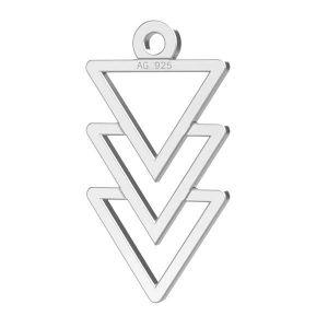 Triangle pendentif argent 925, LKM-2036