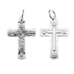 Crucifix pendentif, argent 925, ODL-00323