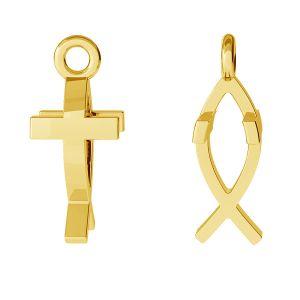 Crucifix pendentif, argent 925, ODL-00471