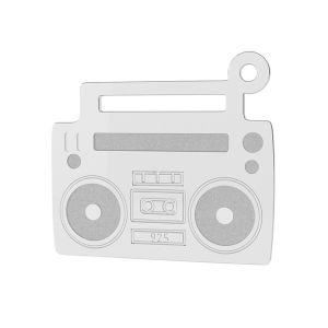 Magnétophone pendentif argent, LK-1430 - 0,50