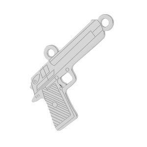 Pistolet pendentif argent, LKM-2092 - 0,50