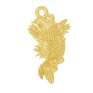 Poisson Koi pendentif argent, LKM-2100 - 0,50
