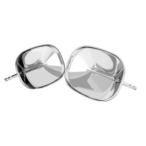 Boucles d'oreilles en argent Cushion Fancy Stone base, OKSV 4568 MM 14,0X 10,0 KLS
