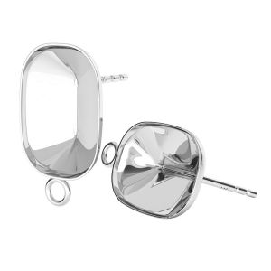 Boucles d'oreilles en argent Cushion Fancy Stone base, OKSV 4568 MM 14,0X 10,0 KLS CON 1