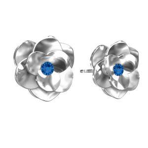 Rose des boucles d'oreilles ODL-00041 KLS - SIAM