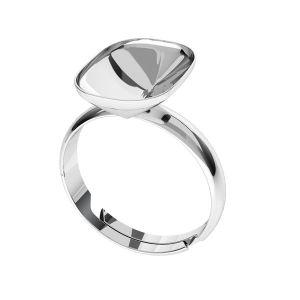 Bague en argent Cushion Fancy Stone base, OKSV 4568 MM 14,0X 10,0 S-Ring Universal