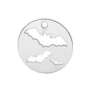 Chauve souris pendentif argent, LK-1561 - 0,50