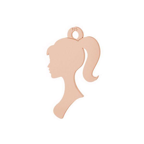 Visage de femme pendentif, argent 925, LKM-2099 - 0,50
