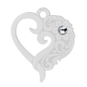 Srdce pendentif (2058 SS 7), LK-2112 - 0,50