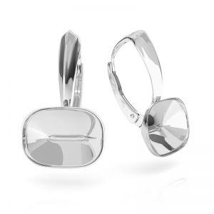 Boucles d'oreilles en argent Cushion Fancy Stone base, OKSV 4568 MM 14,0X 10,0 BA 1 ver.2