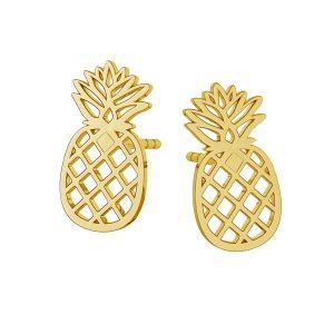 Ananas boucles d'oreilles, argent 925, LKM-2115 KLS - 0,50