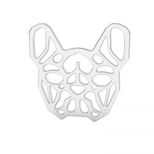 Bulldog francais pendentif argent, LK-1557 - 0,50
