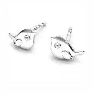 Abeille boucles d'oreilles, argent 925, ODL-00507 KLS