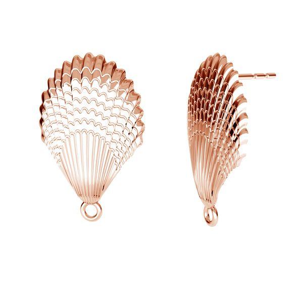 Coquille boucles d'oreilles, argent 925, ODL-00515 KLS