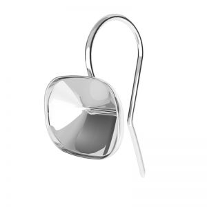 Boucles d'oreilles en argent Cushion Fancy Stone base, OKSV 4568 MM 14,0X 10,0 BO ver.2