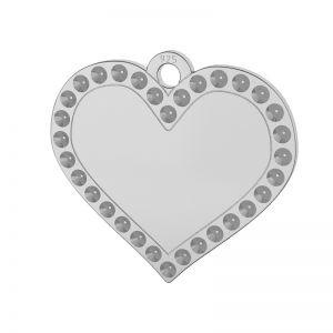 Cœur pendentif argent 925, LKM-2139 - 0,80 (1028 PP 4)