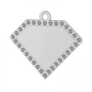 Diamant pendentif argent 925, LKM-2142 - 0,80 (1028 PP 4)