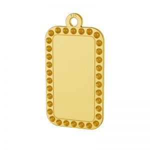Rectangle pendentif argent 925, LKM-2140 - 0,80 (1028 PP 4)