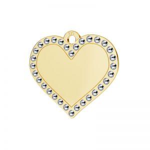 Cœur pendentif argent 925, LKM-2139 - 0,80 ver.2
