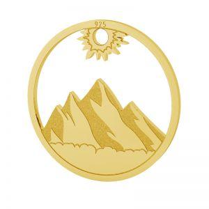Montagne bouclier pendentif, LKM-2131