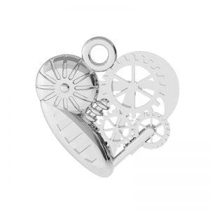 Coeur mécanique pendentif argent, ODL-00521