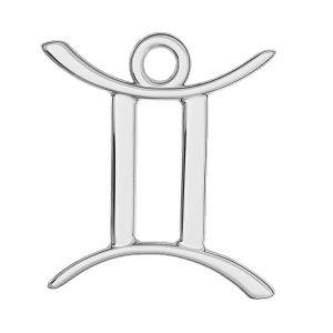 Gémeaux pendentif zodiaque, argent 925, ODL-00570