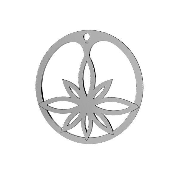 Fleur de lotus pendentif, LKM-2163 - 05