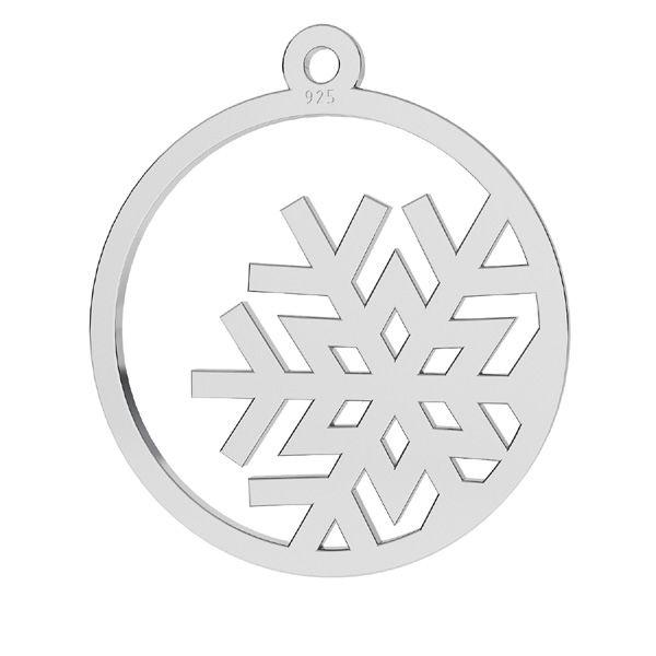 Flocon de neige pendentif argent, LKM-2257 - 0,50