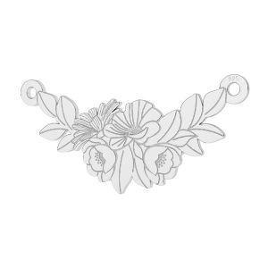 Bouquet de fleurs pendentif argent, LKM-2245 - 0,50