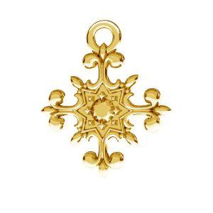 Crucifix pendentif, argent 925, ODL-00599
