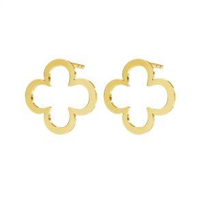 Trèfle boucles d'oreilles, argent 925, KLS LKM-2291 - 0,50 13x13 mm