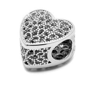 Perles coeur*argent 925*BDS-00002
