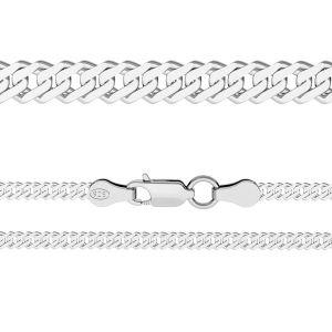 Chaine Rombo*argent 925*RD 100 6L (38 cm)