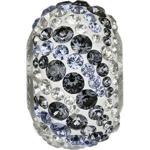82023 BeCharmed Pavé Air Bead - Crystal, Crystal, Light Sapphire