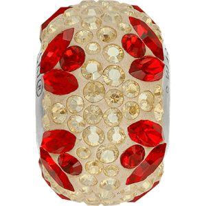 82112 BeCharmed Pavé Flower Bead  - Crystal, Light Siam, Golden Shadow