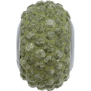84501 BeCharmed Pavé Ceramics Bead - Marbled Yellow
