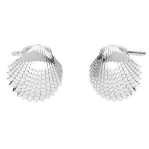 Coquille boucles d'oreilles, argent 925, ODL-00664 KLS