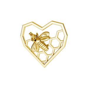 Coeur nid d'abeille pendentif *argent 925*ODL-00671 13,9x15 mm