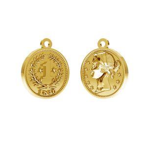 Pièce de monnaie chinoise pendentif, argent 925, ODL-00012