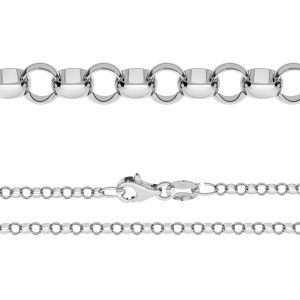 Chaine maille rolo*argent 925*ROLO 055 ver.3,30 (40 cm)