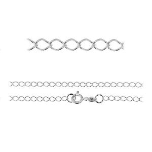 Chaine Rombo*argent 925*R1 50 (40 cm)